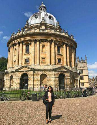 Irene at Oxford University in August 2017